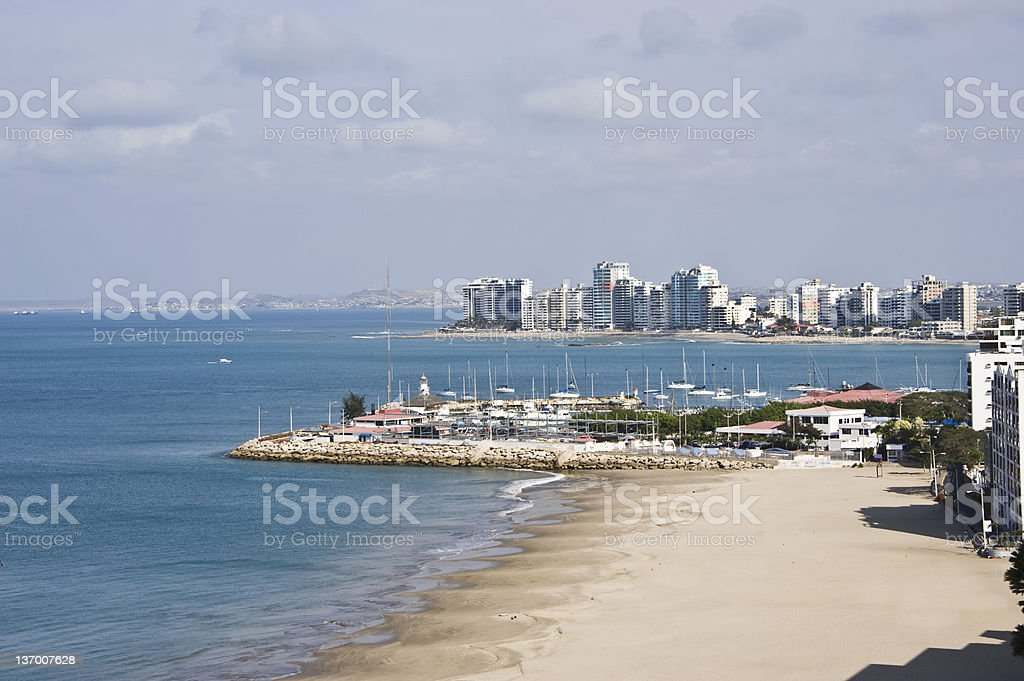 Salinas, Resort town in Ecuador, Pacific Coast stock photo