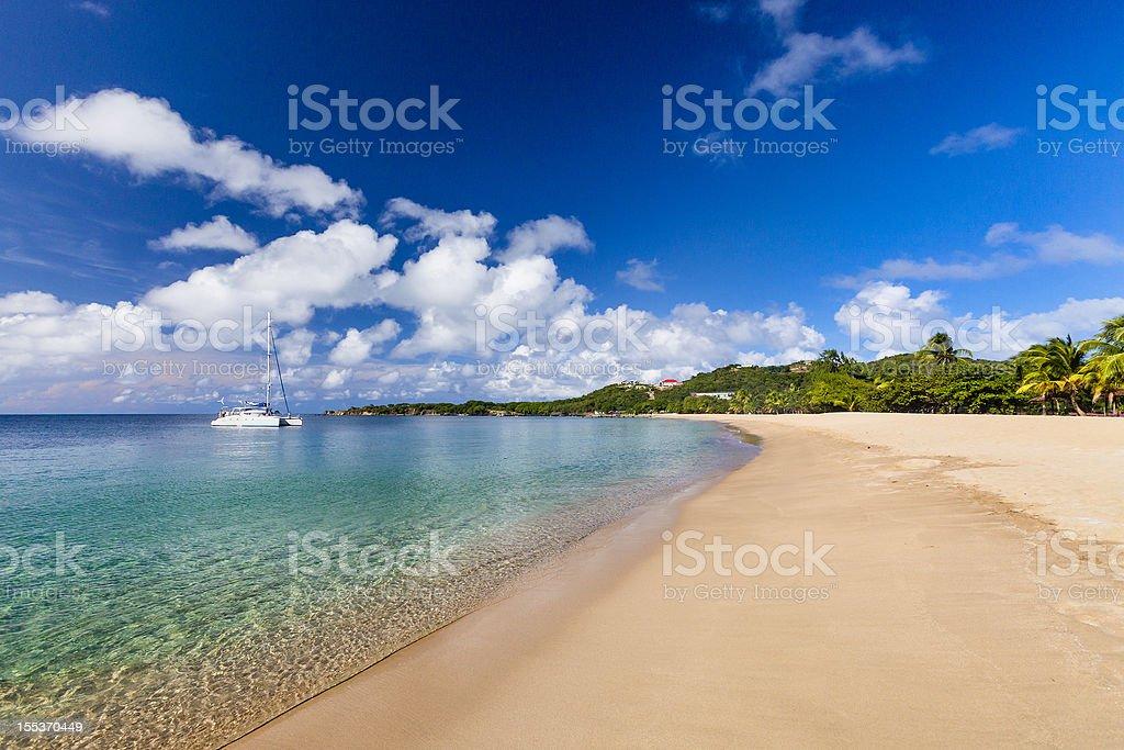 Saline Bay, Mayreau royalty-free stock photo