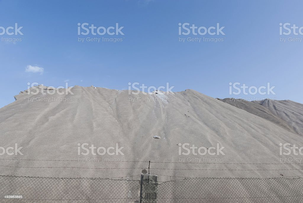 Saline in Ibiza Island stock photo
