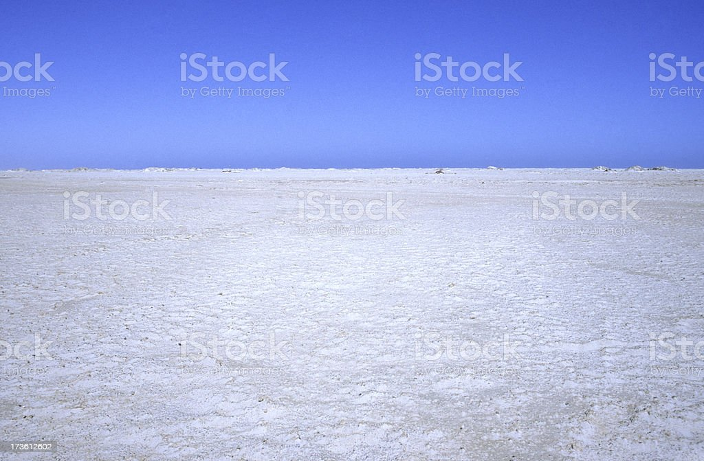 Saline in Namibia stock photo