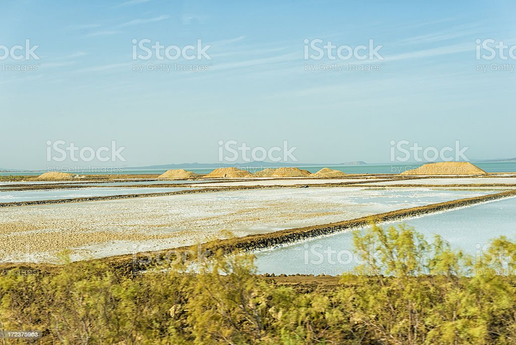 saline Lake Afdera stock photo