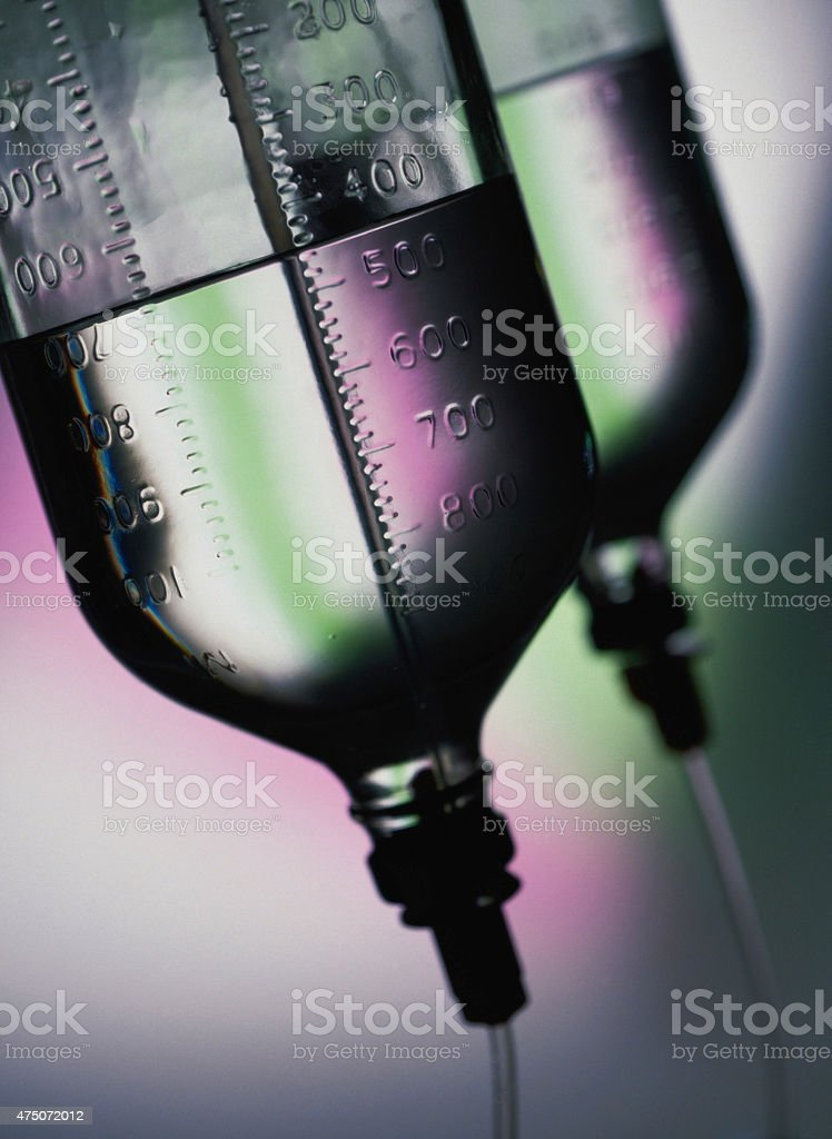 Saline solution. stock photo