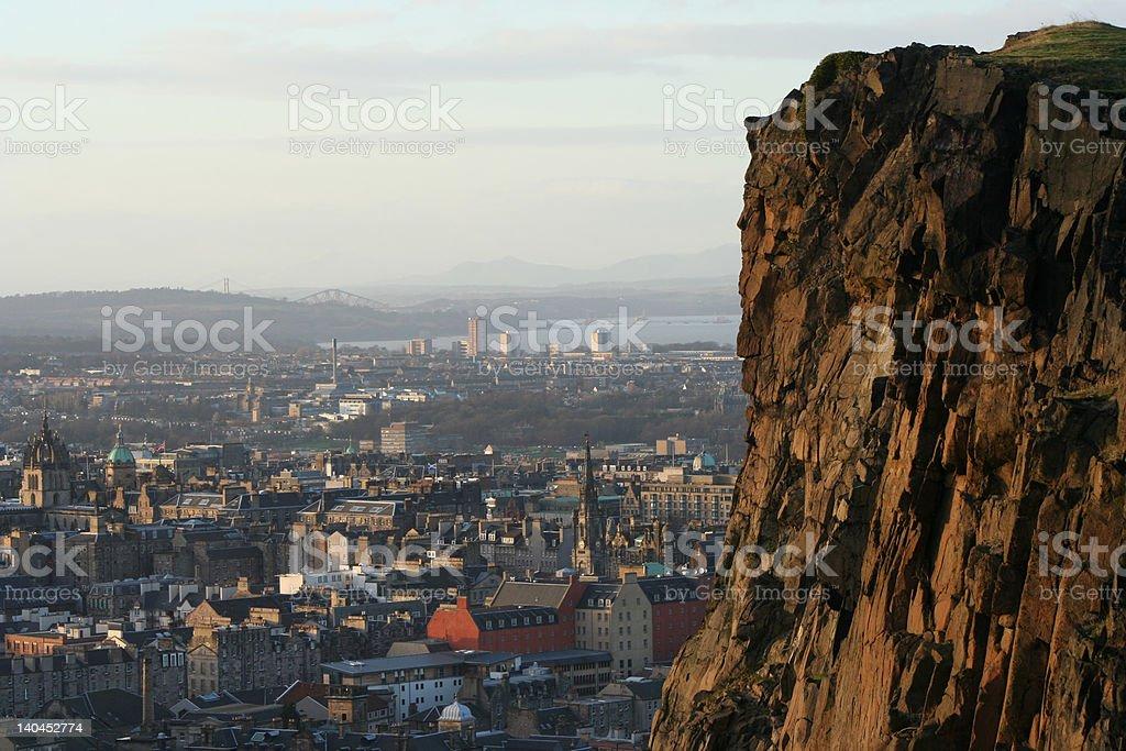 Salisburg Crags Edinburgh Scotland stock photo