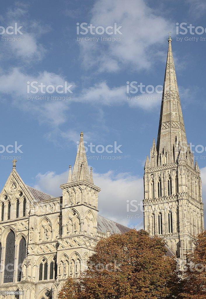 Salisbury Cathedral, Wilshire, England stock photo