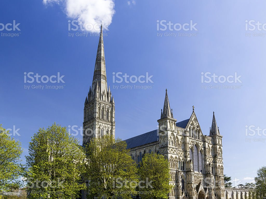 Salisbury Cathedral Wiltshire England UK stock photo
