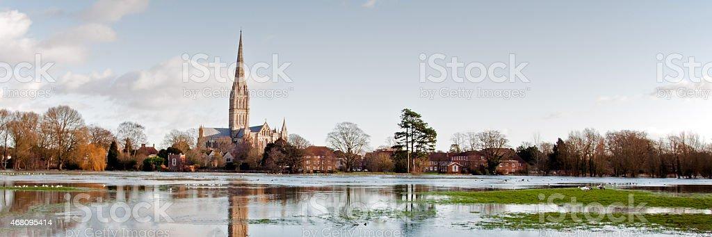 Salisbury Flood stock photo