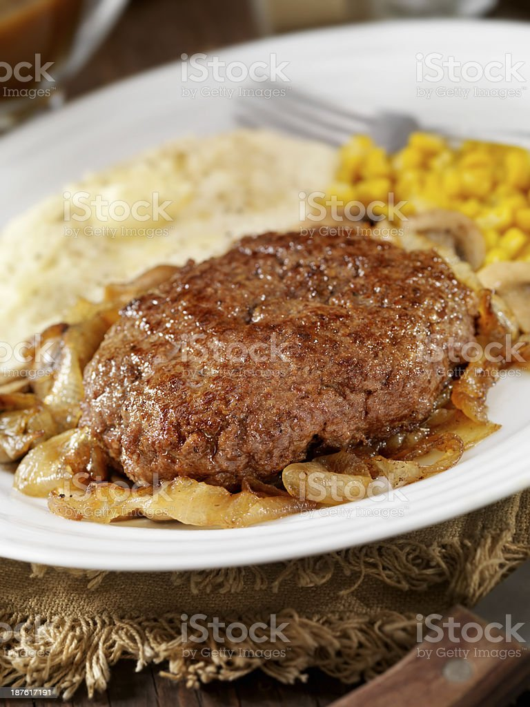 Salisbury Steak royalty-free stock photo