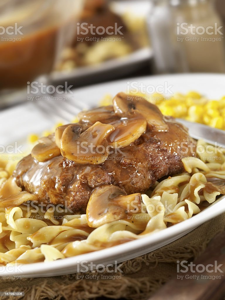 Salisbury Steak royalty-free stock photo