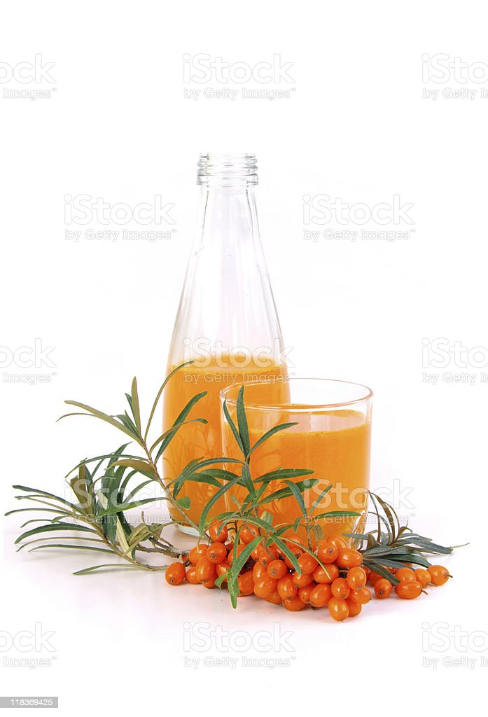 sallow thorn juice royalty-free stock photo