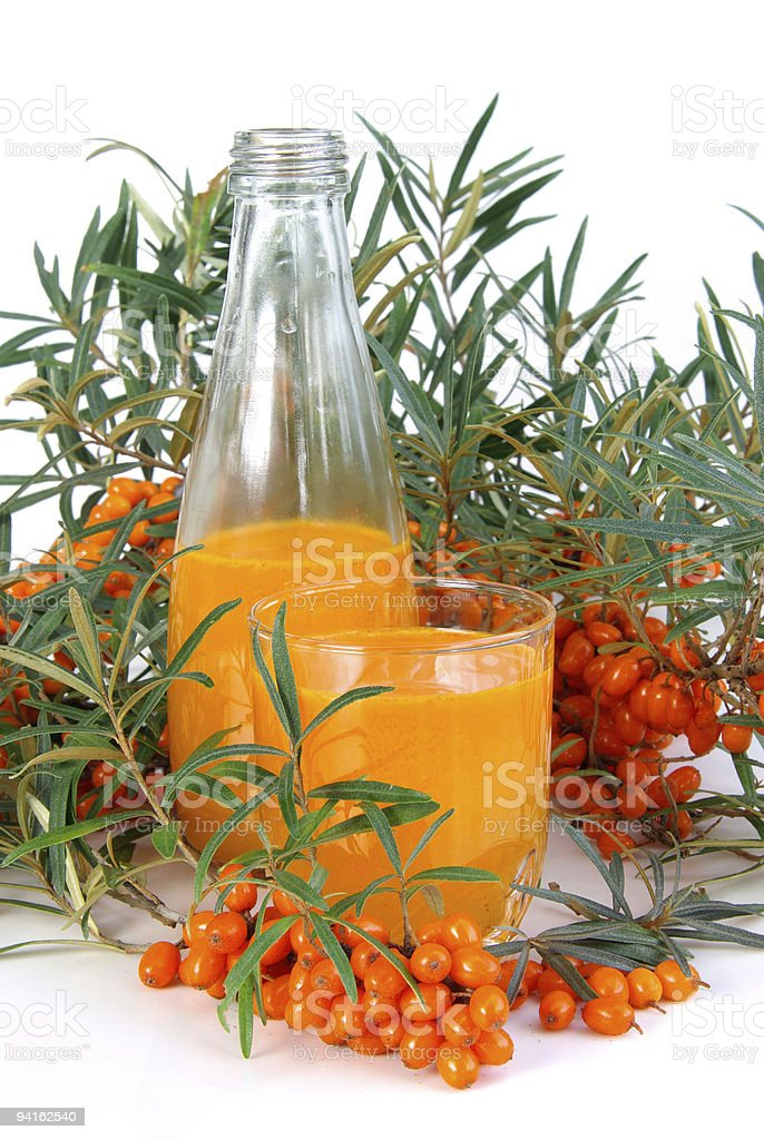 sallow thorn juice royalty-free stock photo