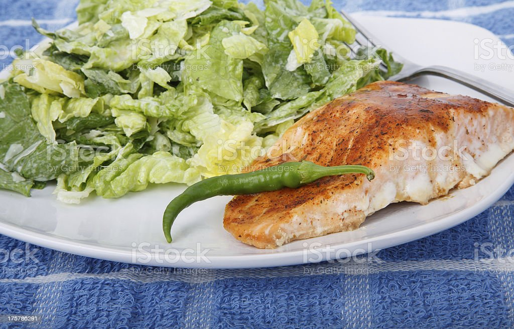 Salmon and Caesar with Pepper stock photo