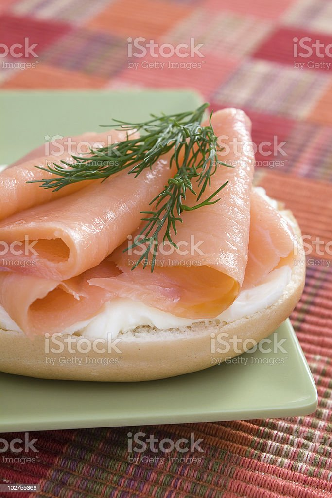 Salmon and Cream Cheese royalty-free stock photo
