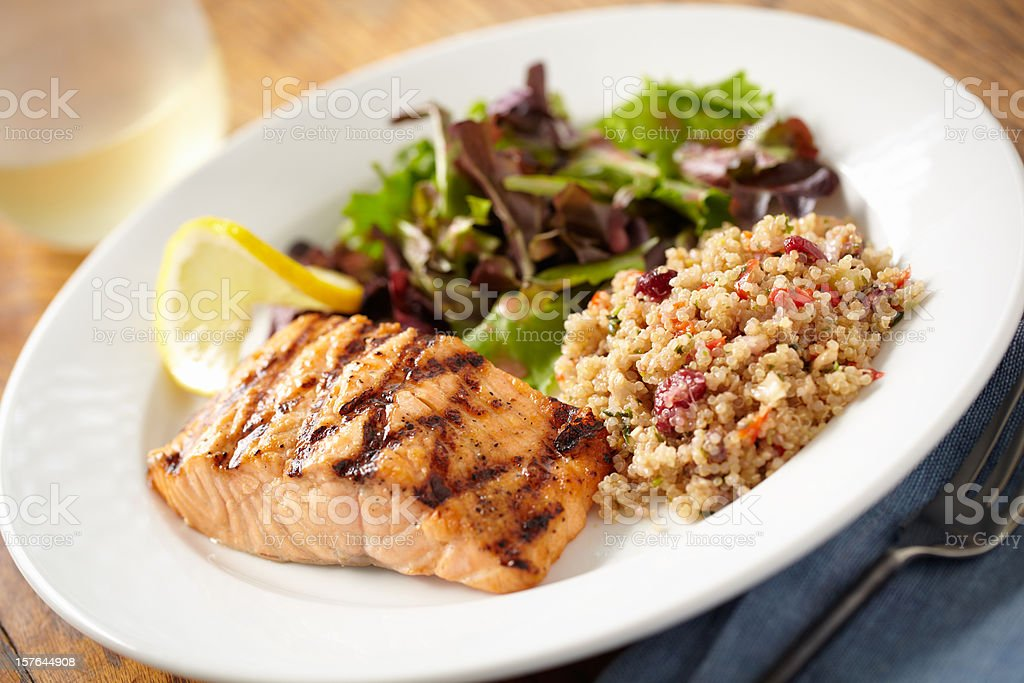 Salmon and Quinoa stock photo