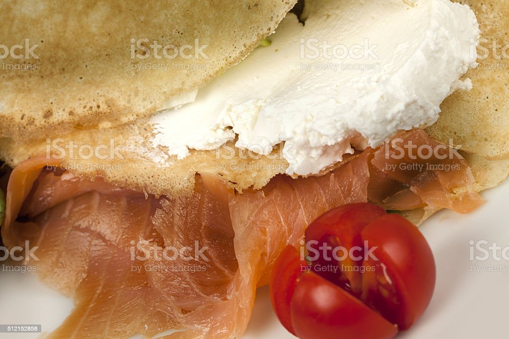 Salmon and tomatoes stock photo