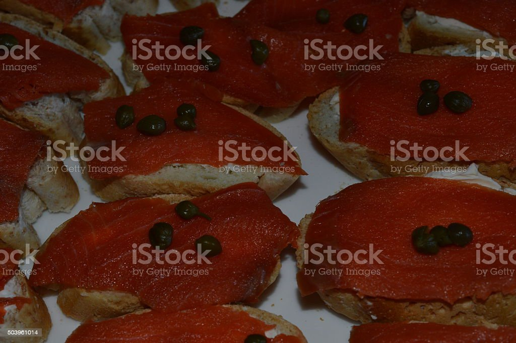 salmon appetizer royalty-free stock photo