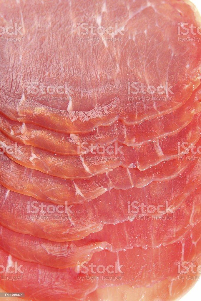 salmon bacon slices royalty-free stock photo