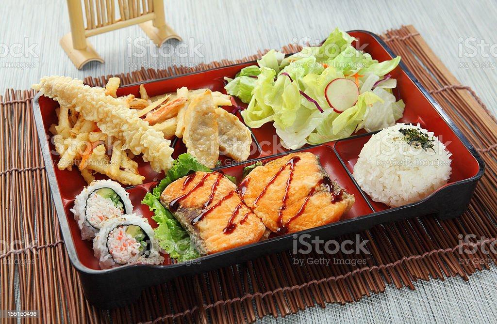 Salmon Bento royalty-free stock photo