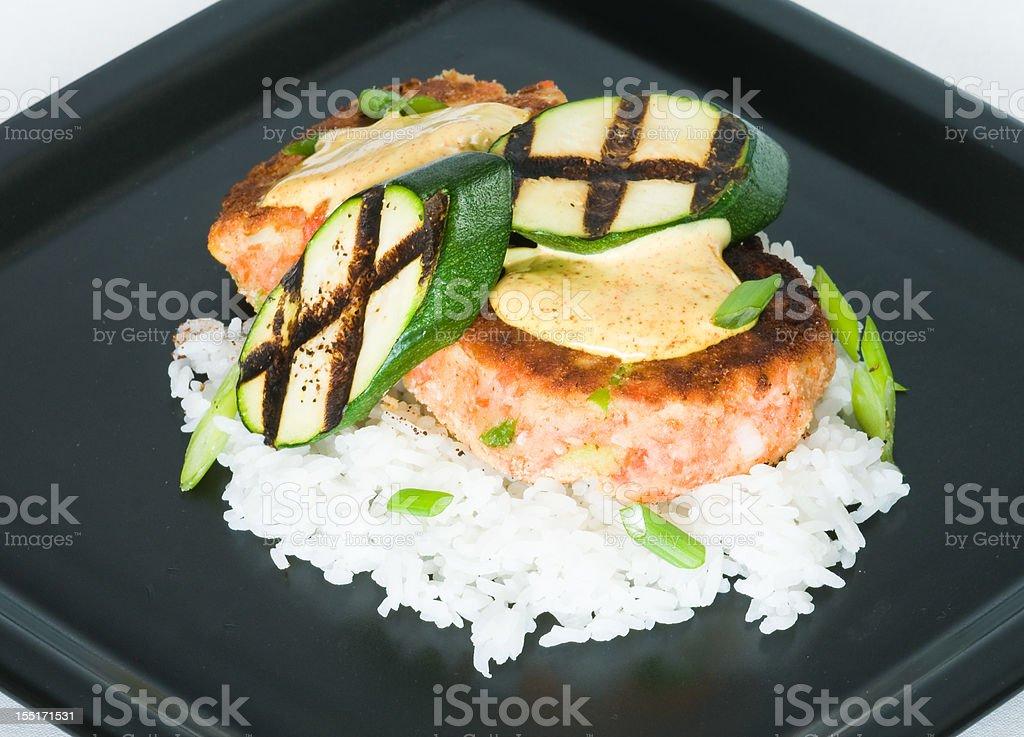 Salmon Cakes royalty-free stock photo