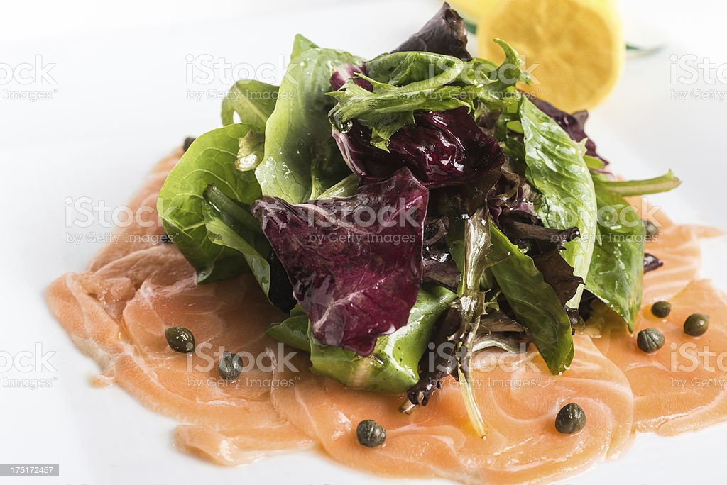 Carpaccio di salmone royalty-free stock photo