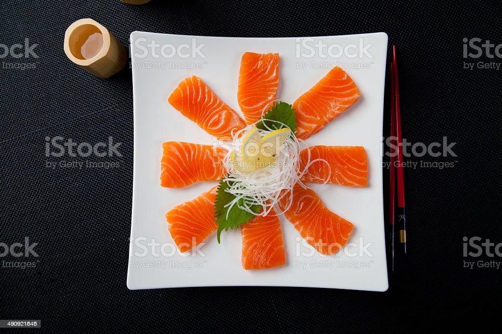 Salmon Carpaccio stock photo