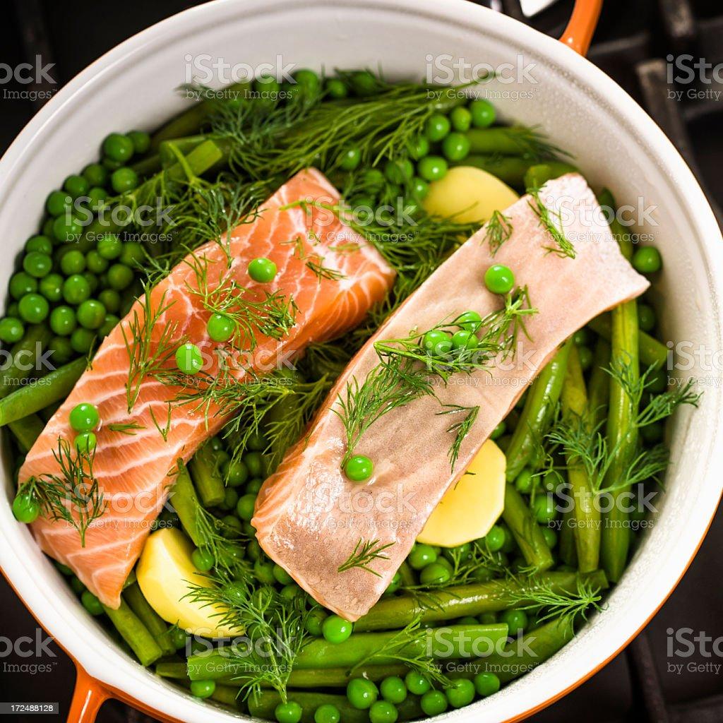 Salmon Casserole royalty-free stock photo