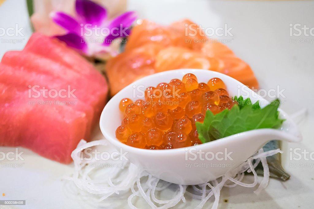 Salmon Caviar stock photo