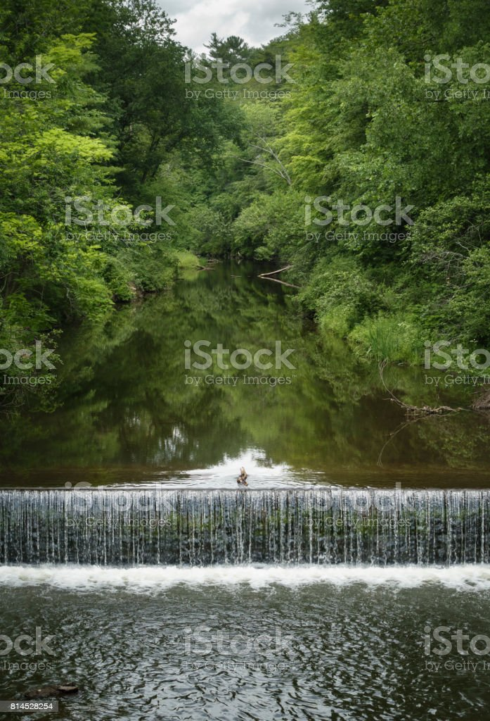 Salmon Creek in Lime Rock, Connecticut stock photo