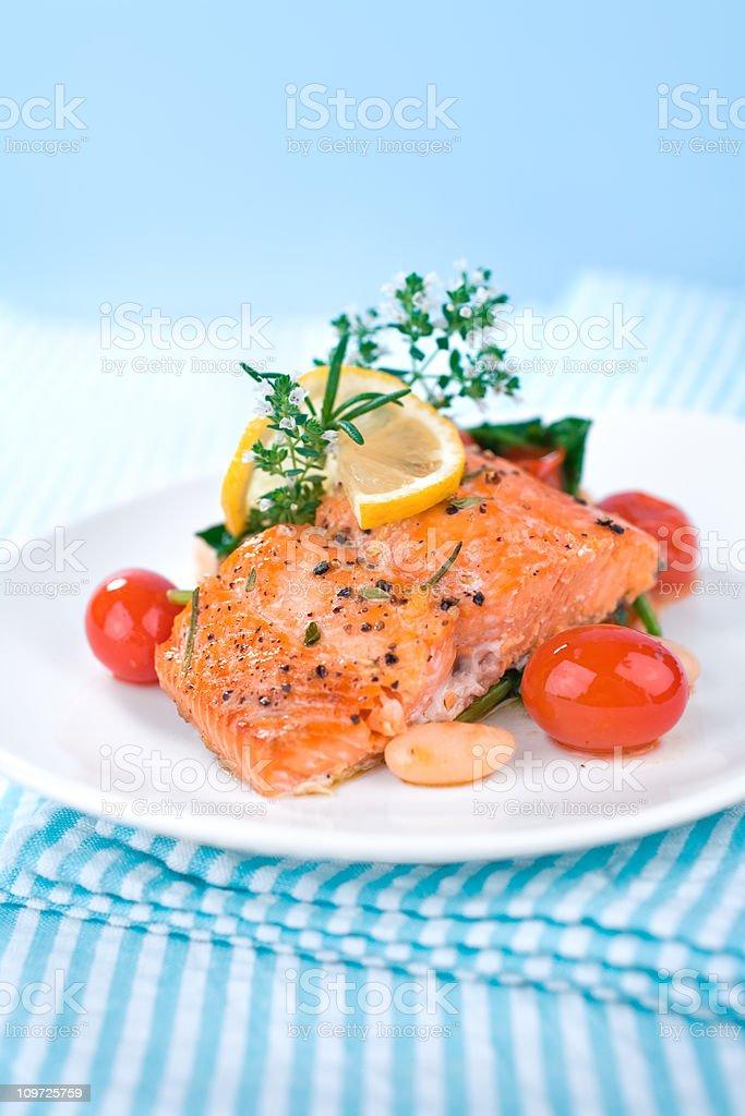 Salmon Dinner royalty-free stock photo