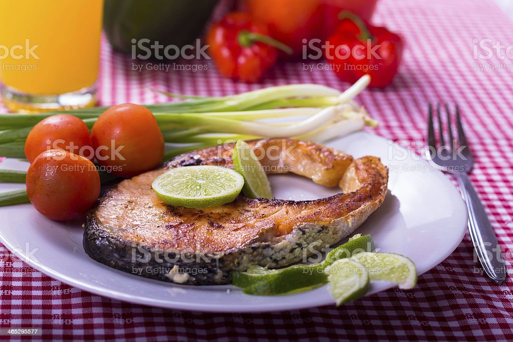 Salmon Dinner royalty-free stock photo