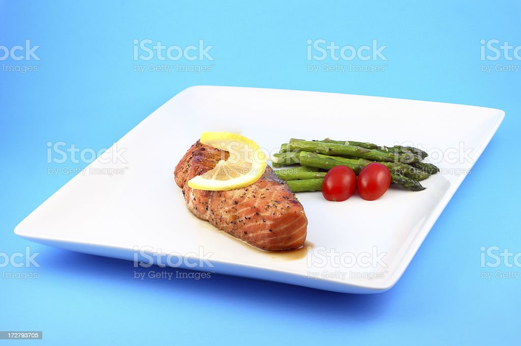 Salmon Dish royalty-free stock photo