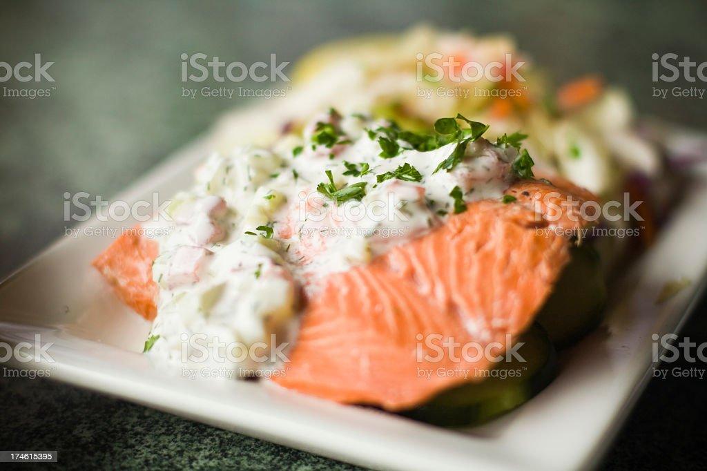 salmon dish royalty-free stock photo
