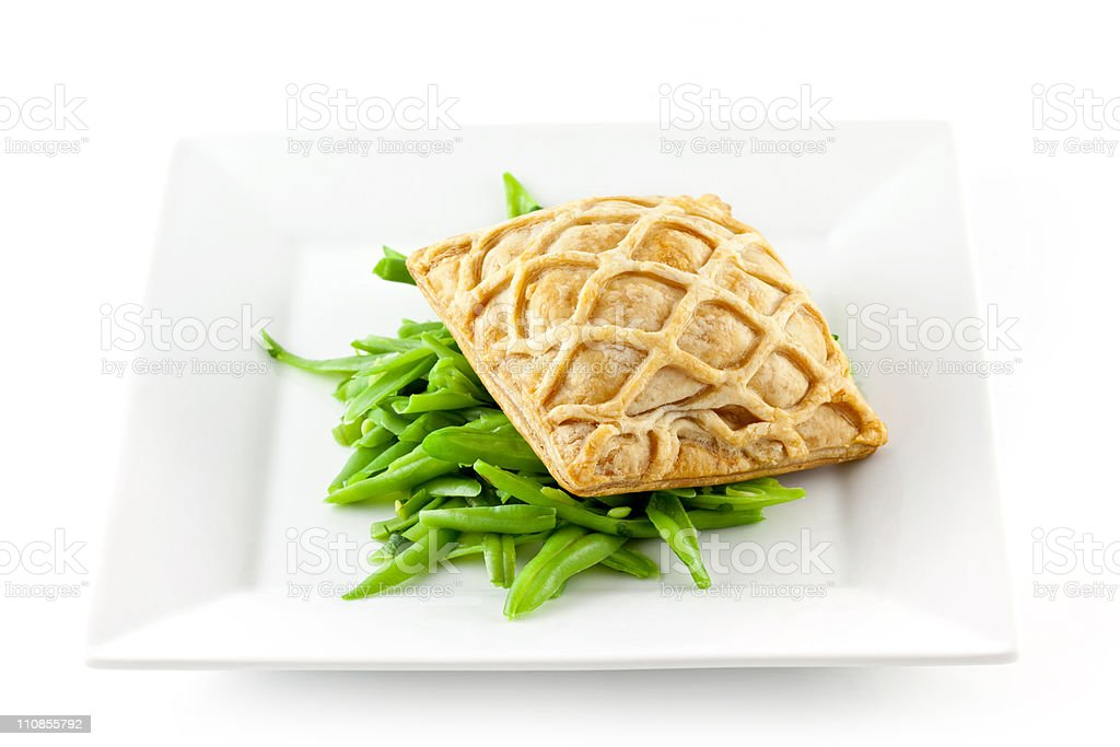 Salmon En Croute stock photo