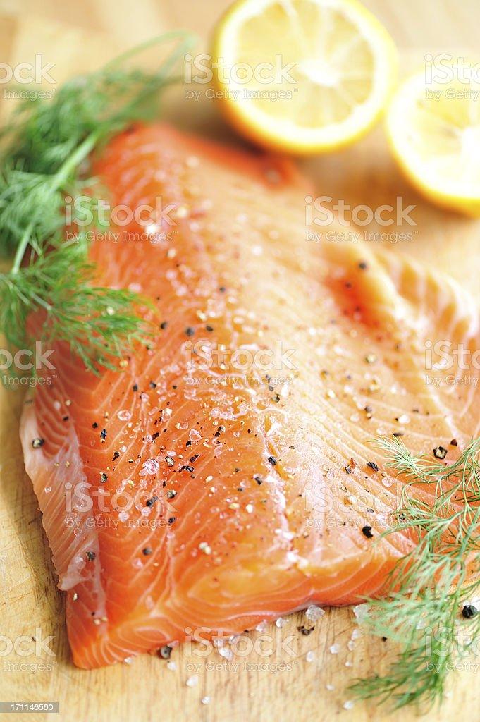 Salmon Filet royalty-free stock photo