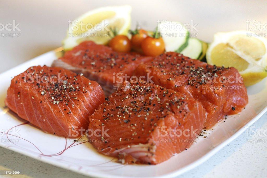 Salmon Filets royalty-free stock photo