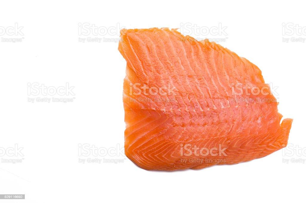 Salmon fillet isolated on white background stock photo
