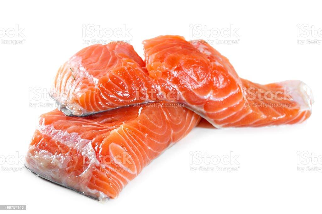 Salmon fillet on a white background royalty-free stock photo