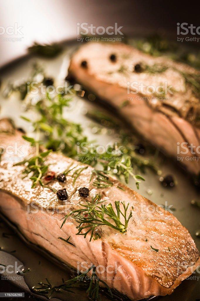 Salmon Fillet stock photo