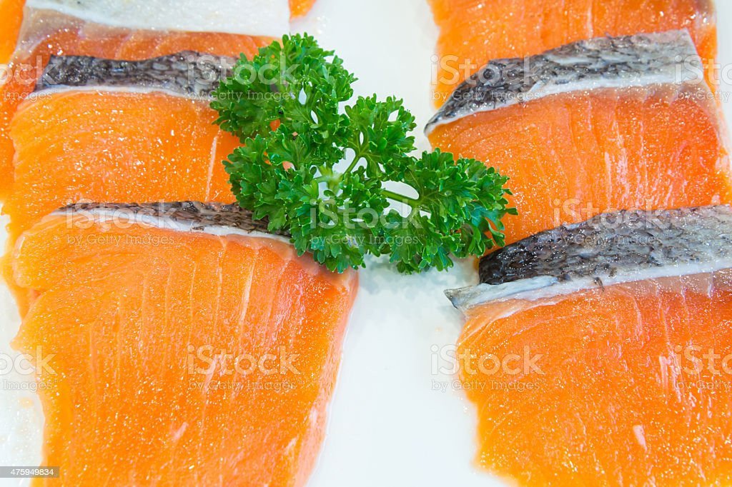 salmon fillet ready to cook royalty-free stock photo