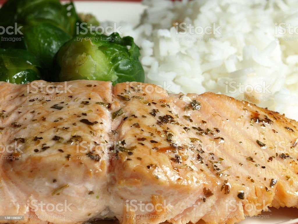 Salmon fish royalty-free stock photo