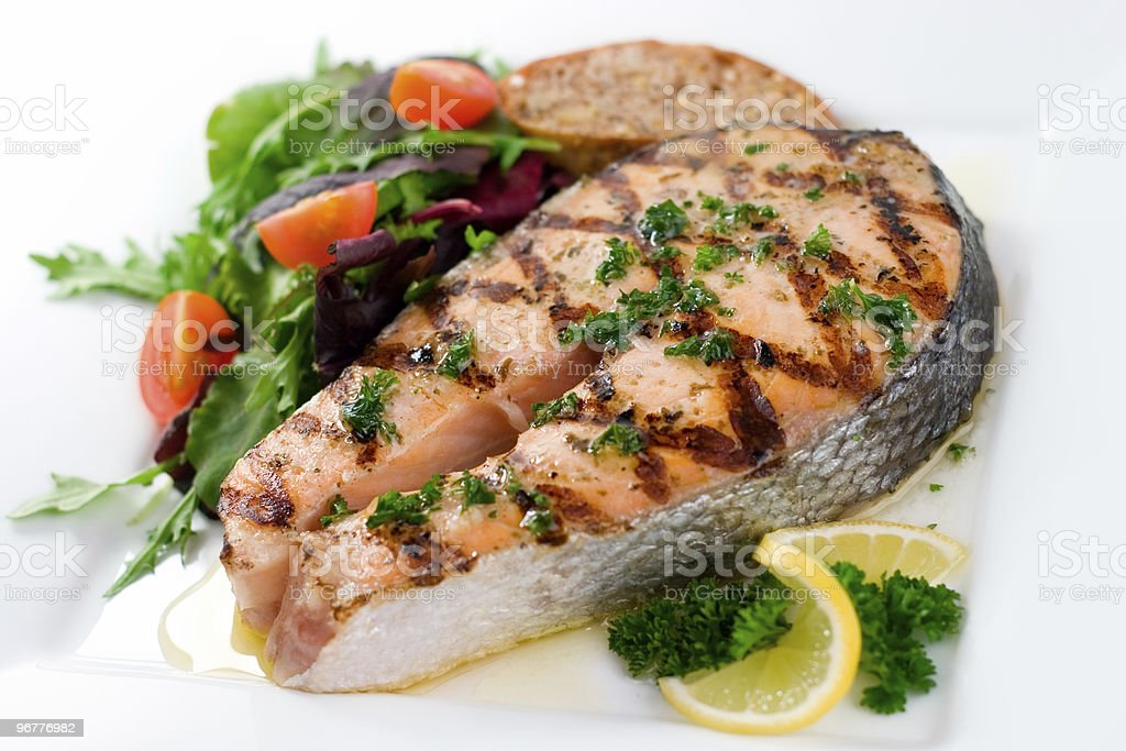 Salmon for Dinner royalty-free stock photo