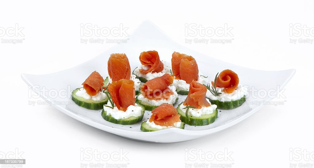 salmon for finger food royalty-free stock photo