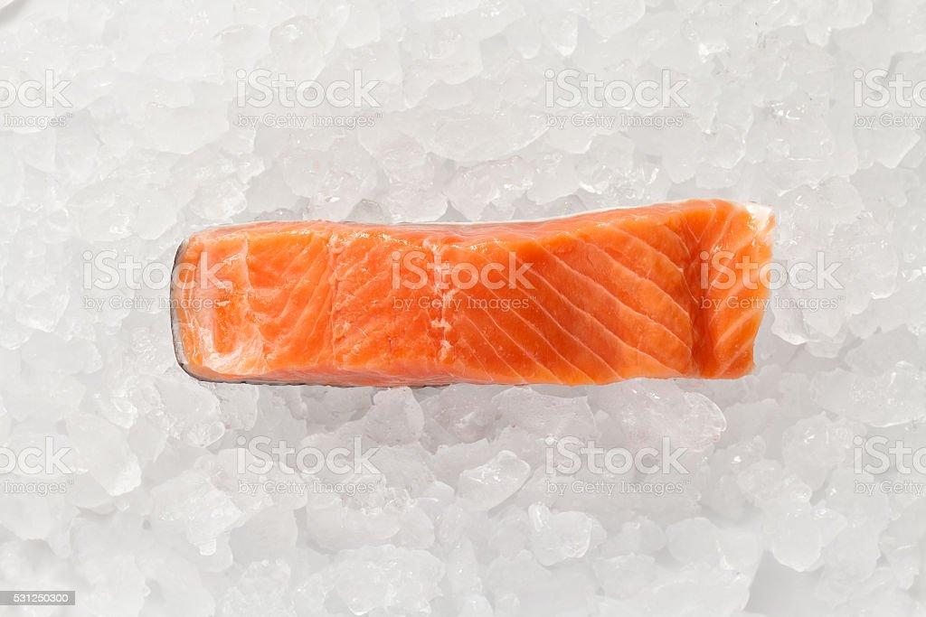 salmon fresh steak food ingredient rustic still life stock photo