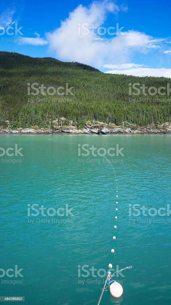 Salmon Gill Net Set stock photo