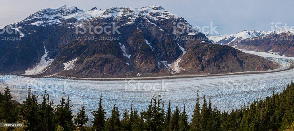 Salmon Glacier Panoramic stock photo