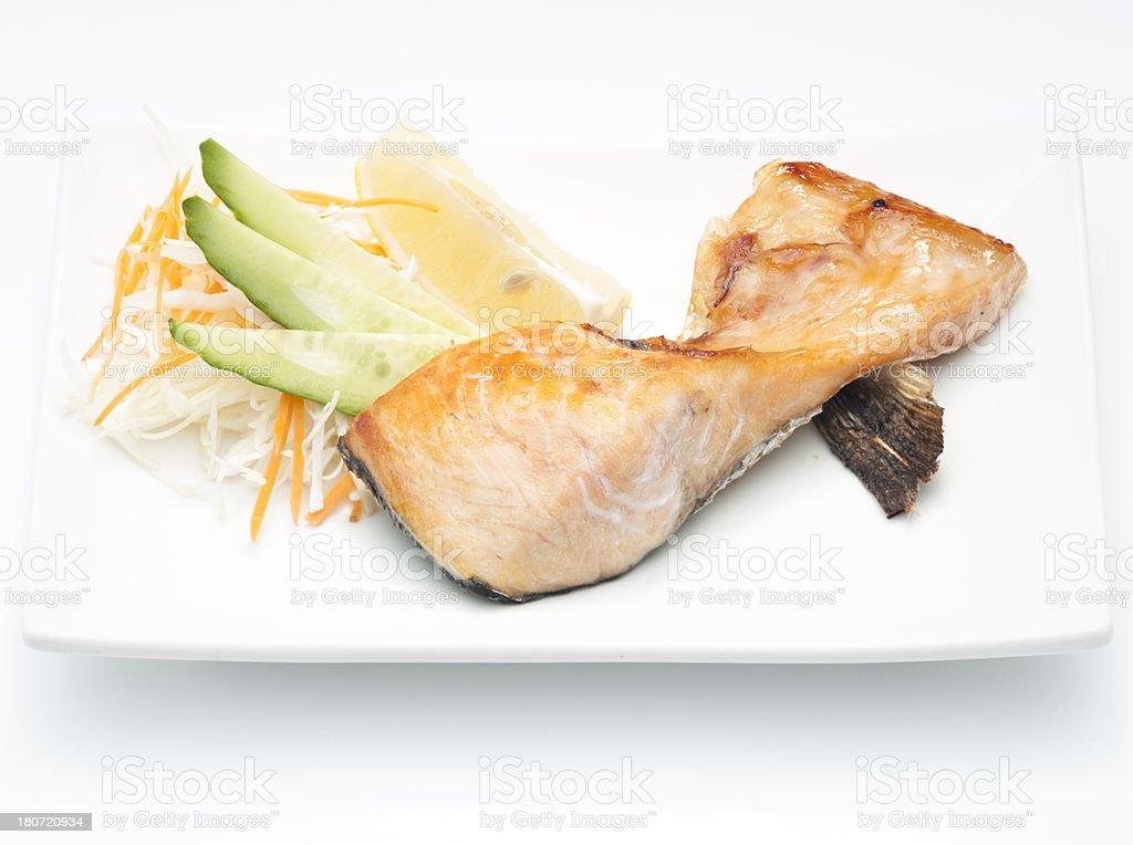 Salmon grill royalty-free stock photo