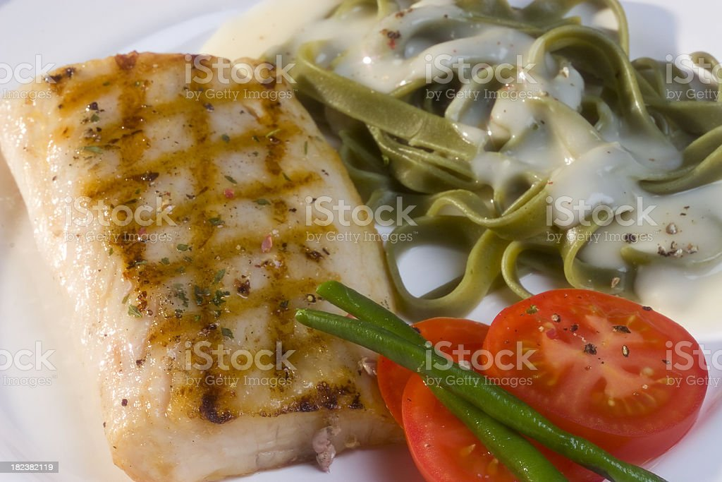 Salmon grilled royalty-free stock photo