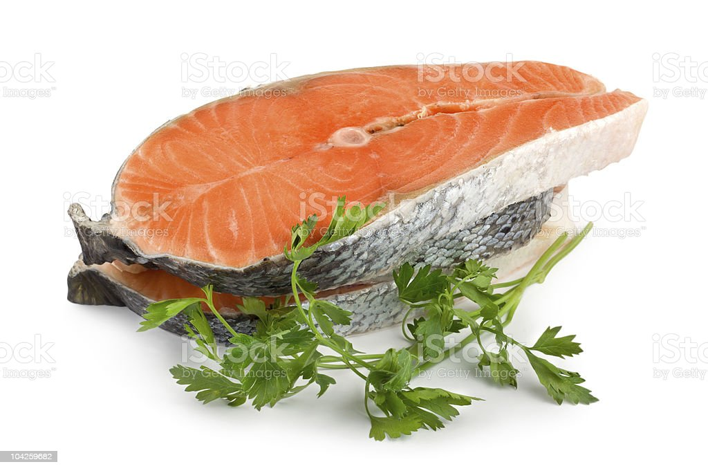 Salmon isolated stock photo