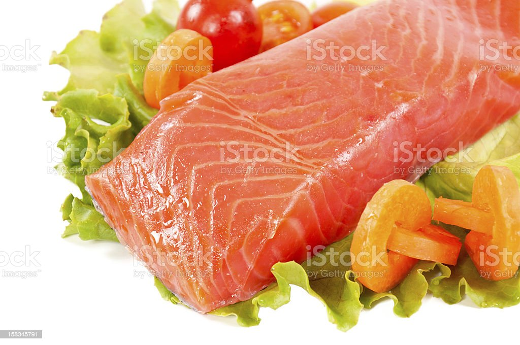 Salmon isolated stock photo