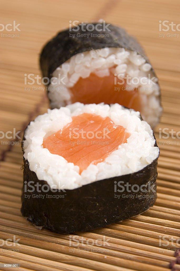 Salmon Maki royalty-free stock photo