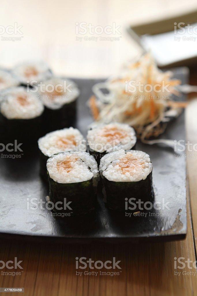 Salmon Maki sushi royalty-free stock photo